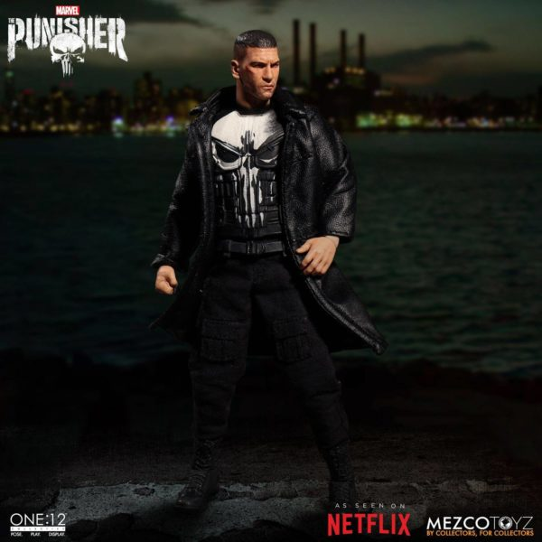 PUNISHER (TV SERIES) FIGURINE 1-12 MARVEL UNIVERSE ONE 12 MEZCO TOYS 17 CM (1) 696198767803 kingdom-figurine.fr
