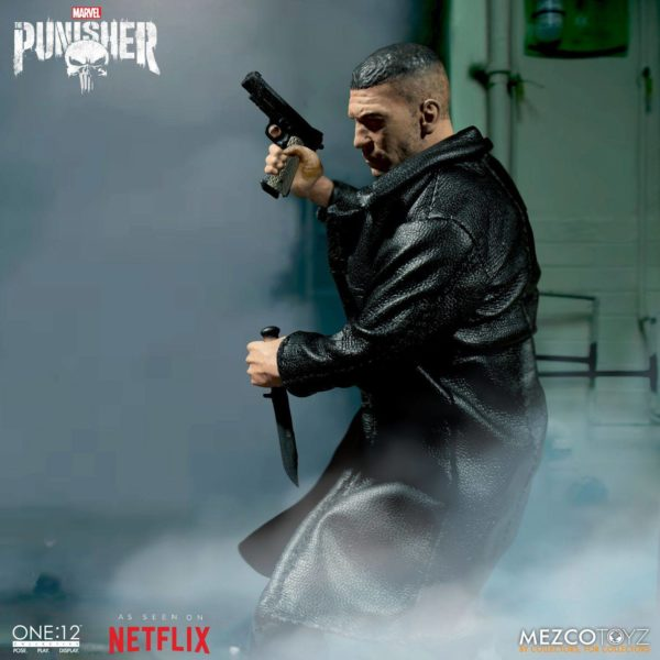 PUNISHER (TV SERIES) FIGURINE 1-12 MARVEL UNIVERSE ONE 12 MEZCO TOYS 17 CM (10) 696198767803 kingdom-figurine.fr