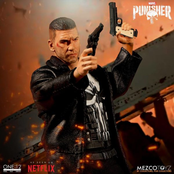 PUNISHER (TV SERIES) FIGURINE 1-12 MARVEL UNIVERSE ONE 12 MEZCO TOYS 17 CM (11) 696198767803 kingdom-figurine.fr
