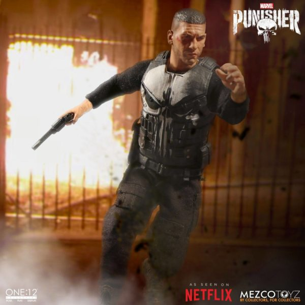 PUNISHER (TV SERIES) FIGURINE 1-12 MARVEL UNIVERSE ONE 12 MEZCO TOYS 17 CM (12) 696198767803 kingdom-figurine.fr
