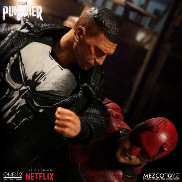 PUNISHER (TV SERIES) FIGURINE 1-12 MARVEL UNIVERSE ONE 12 MEZCO TOYS 17 CM (3) 696198767803 kingdom-figurine.fr