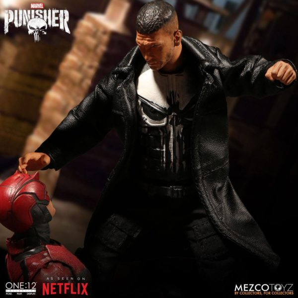 PUNISHER (TV SERIES) FIGURINE 1-12 MARVEL UNIVERSE ONE 12 MEZCO TOYS 17 CM (4) 696198767803 kingdom-figurine.fr