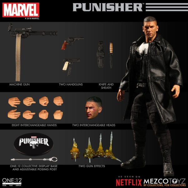PUNISHER (TV SERIES) FIGURINE 1-12 MARVEL UNIVERSE ONE 12 MEZCO TOYS 17 CM (5) 696198767803 kingdom-figurine.fr