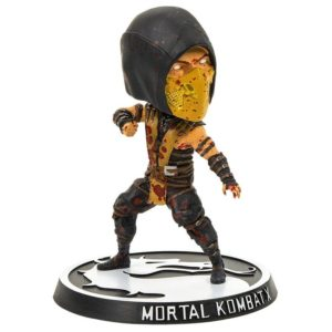SCORPION BLOODY VERSION FIGURINE BOBBLEHEAD MORTAL KOMBAT X MEZCO TOYS 15 CM (1) 696198892628 kingdom-figurine.fr
