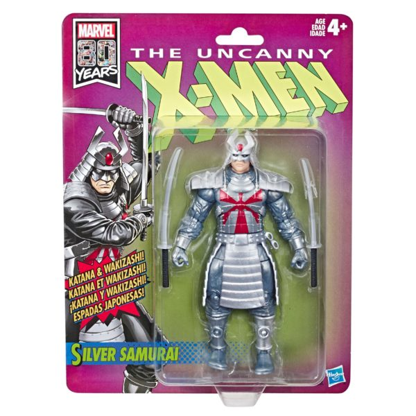 SILVER SAMOURAÏ FIGURINE RETRO UNCANNY X-MEN WAVE 1 MARVEL LEGENDS HASBRO 15 CM (2) 630509825752 kingdom-figurine.fr