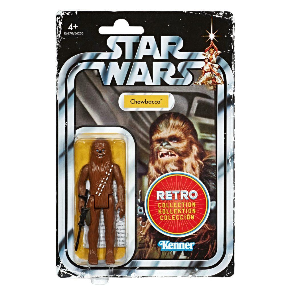 Chewbacca : figurine Hasbro inspirée des Action-figure Kenner des années 70