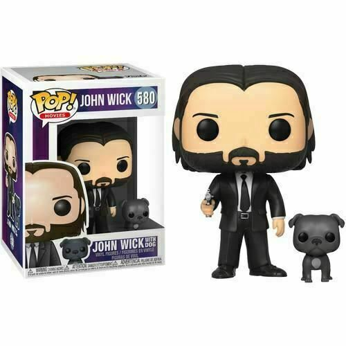 JOHN WICK WITH DOG FIGURINE POP MOVIE JOHN WICK FUNKO 580 (1) 889698472388 kingdom-figurine.fr