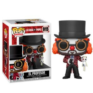 PROFESSOR (CLOWN) FIGURINE LA CASA DE PAPEL FUNKO POP TV 915 889698441964 kingdom-figurine.fr
