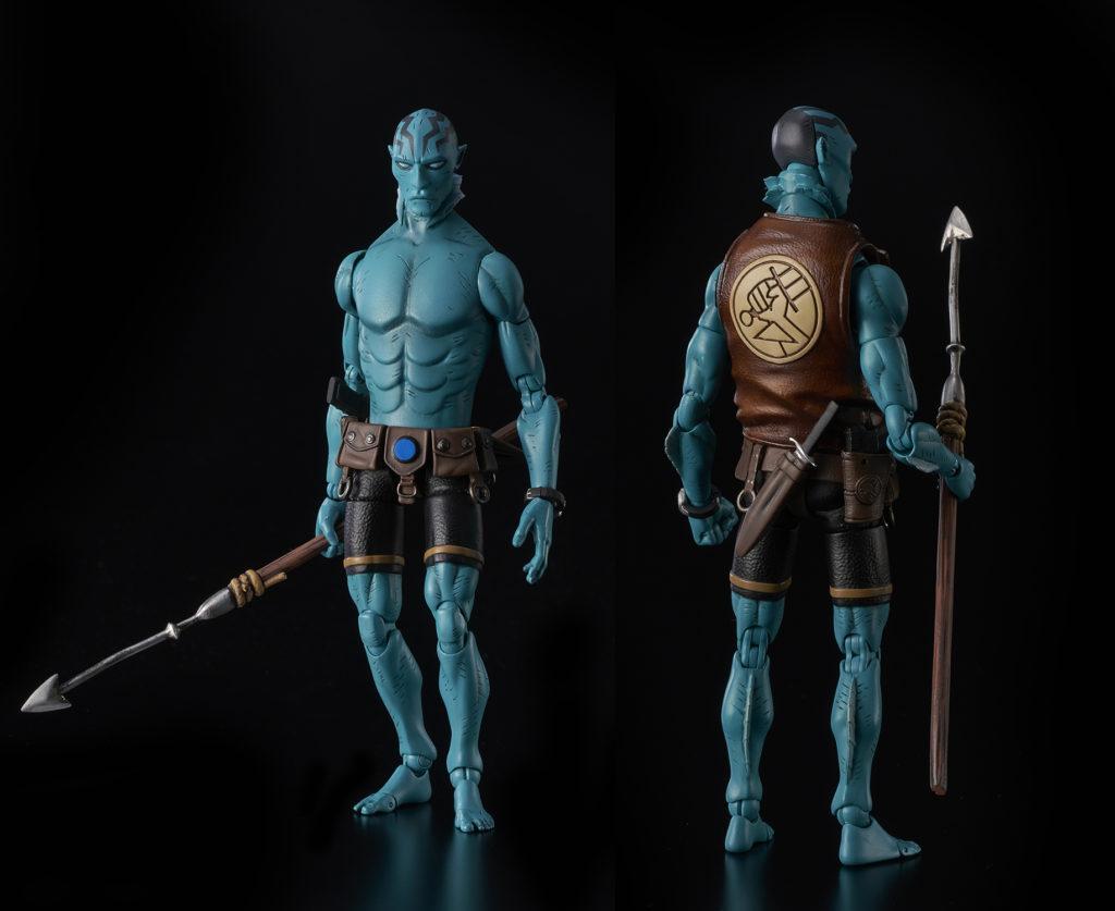 Une jolie figurine du triton Abe Sapien dans Hellboy