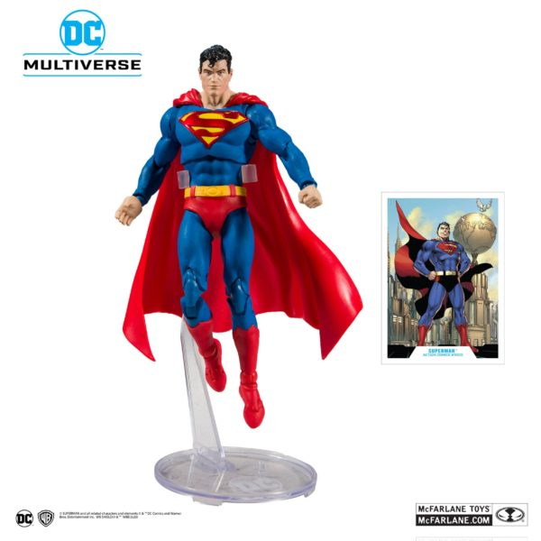 SUPERMAN FIGURINE ACTION COMICS #1000 DC REBIRTH McFARLANE TOYS 18 CM (2) 787926150025 kingdom-figurine.fr