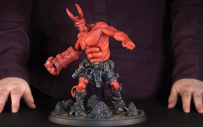 Hellboy The Board Game : une belle statue