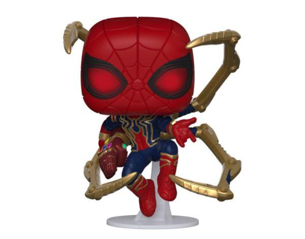 IRON SPIDER WITH NANO GAUNTLET FIGURINE POP MARVEL AVENGERS ENDGAME FUNKO 574 (1) 889698451383 kingdom-figurine.fr