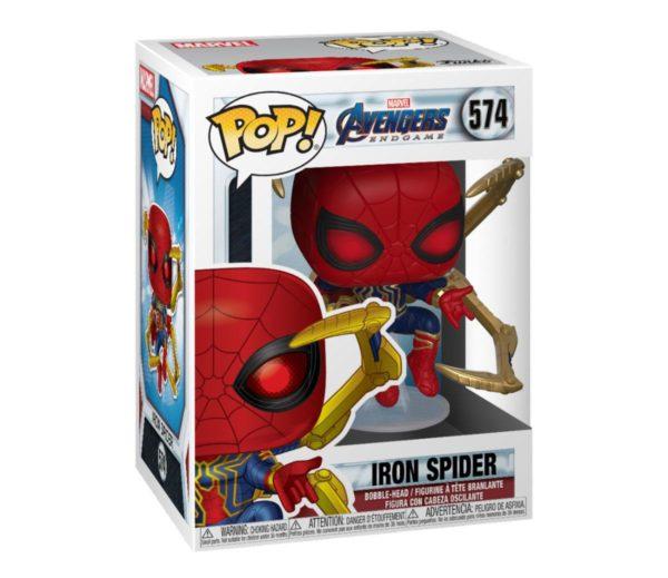 IRON SPIDER WITH NANO GAUNTLET FIGURINE POP MARVEL AVENGERS ENDGAME FUNKO 574 889698451383 kingdom-figurine.fr