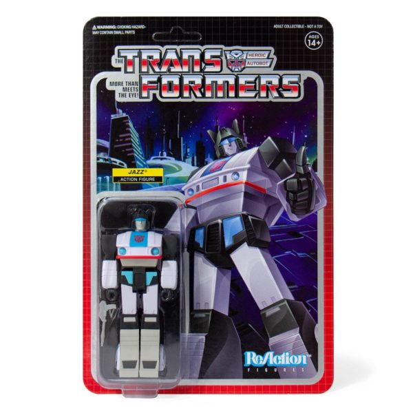 JAZZ FIGURINE TRANSFORMERS WAVE 1 RE-ACTION SUPER7 10 CM 840049800410 kingdom-figurine.fr