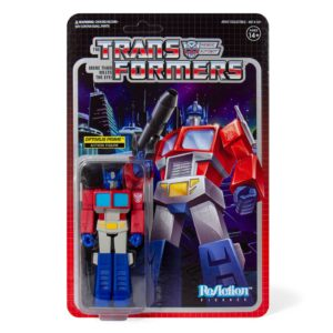 OPTIMUS PRIME FIGURINE TRANSFORMERS WAVE 1 RE-ACTION SUPER7 10 CM 840049800427 kingdom-figurine.fr