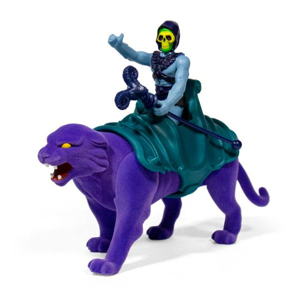 SKELETOR & PANTHOR PACK 2 FIGURINES MASTERS OF THE UNIVERSE RE-ACTION SUPER7 (2) 840049800465 kingdom-figurine.fr