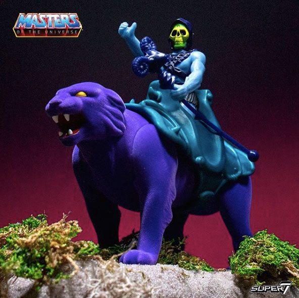 SKELETOR & PANTHOR PACK 2 FIGURINES MASTERS OF THE UNIVERSE RE-ACTION SUPER7 (3) 840049800465 kingdom-figurine.fr