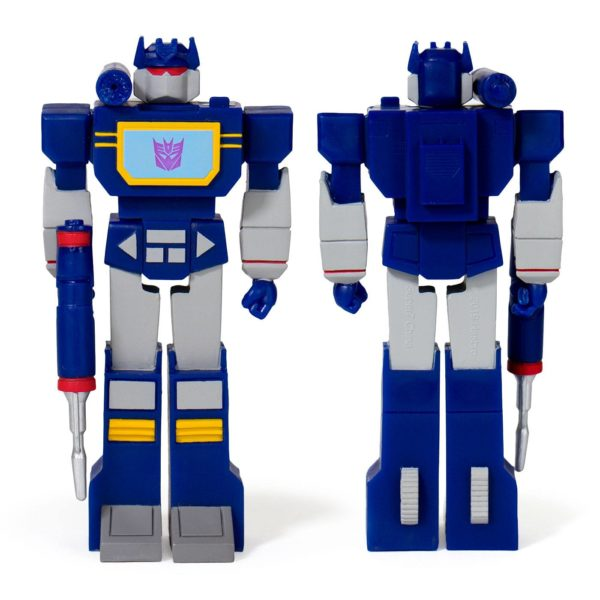 SOUNDWAVE FIGURINE TRANSFORMERS WAVE 1 RE-ACTION SUPER7 10 CM (1) 840049800441 kingdom-figurine.fr