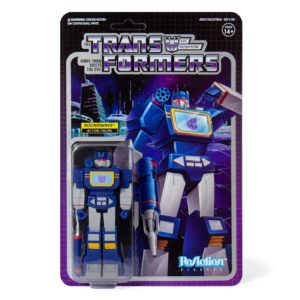 SOUNDWAVE FIGURINE TRANSFORMERS WAVE 1 RE-ACTION SUPER7 10 CM 840049800441 kingdom-figurine.fr