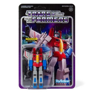 STARSCREAM FIGURINE TRANSFORMERS WAVE 1 RE-ACTION SUPER7 10 CM 840049800434 kingdom-figurine.fr