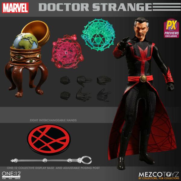 DEFENDERS DOCTOR STRANGE PREVIEWS EXCLUSIVE FIGURINE 1-12 MARVEL MEZCO 15 CM (4) 696198767070 kingdom-figurine.fr