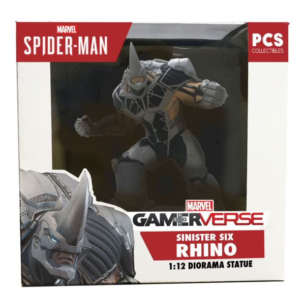 RHINO SINISTER SIX STATUETTE 1-12 MARVEL'S SPIDERMAN GAMEVERSE POP CULTURE SHOCK 18 CM (7) 656793637482 kingdom-figurine.fr