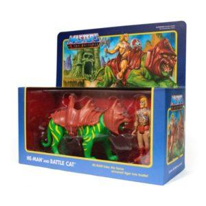 HE-MAN & BATTLECAT PACK 2 FIGURINES MASTERS OF UNIVERSE RE-ACTION SUPER7 (2) 840049800007 kingdom-figurine.fr