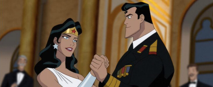 Superman et Wonder Woman version Comics