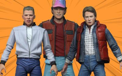 Retour vers Le futur : des figurines de Marty et de Doc