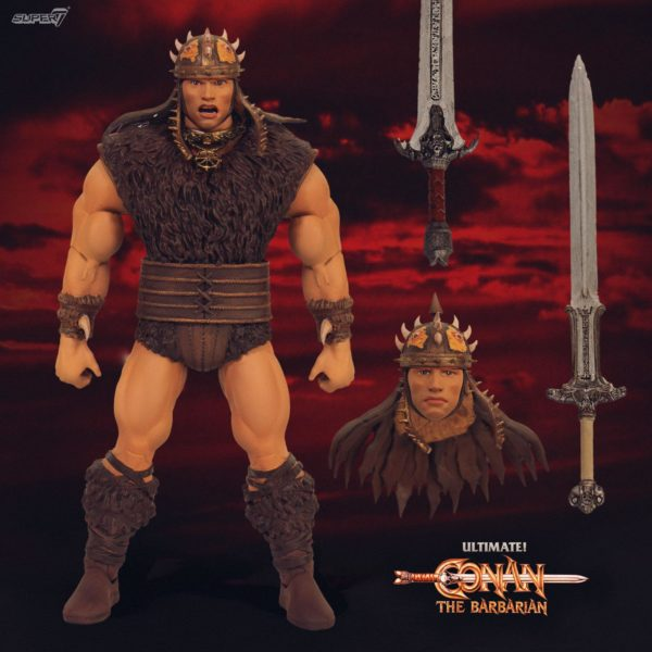 CONAN LE BARBARE FIGURINE ULTIMATES CONAN SUPER7 18 CM 840049800878 kingdom-figurine.fr