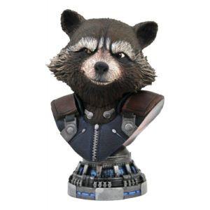 ROCKET RACCOON BUSTE 1-2 AVENGERS ENDGAME MARVEL LEGENDS IN 3D DIAMOND SELECT 20 CM 699788836699 kingdom-figurine.fr