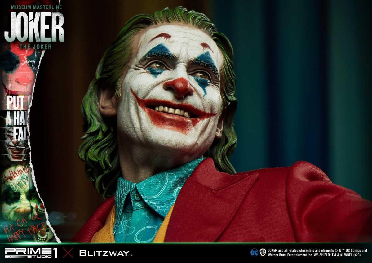 Une statue du Joker avec le visage de Joachin Phoenix