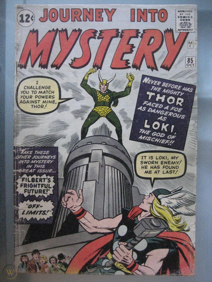 Couverture de comics avec Loki