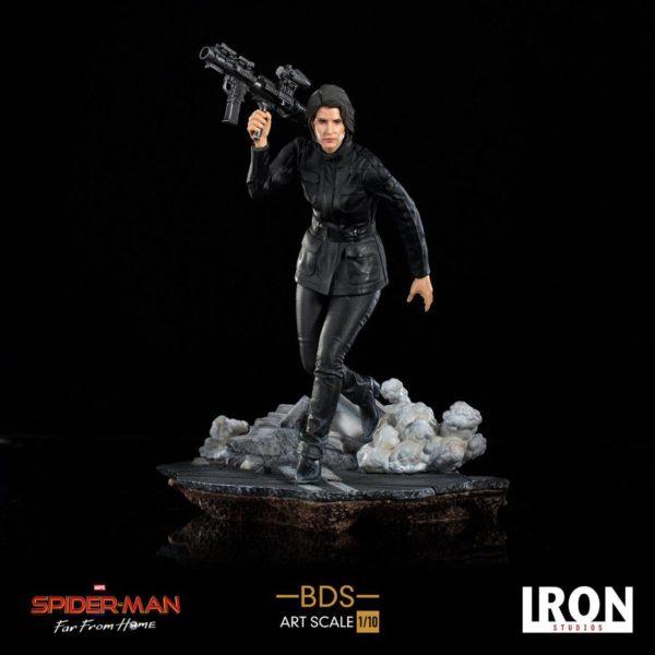 MARIA HILL STATUETTE 1-10 SPIDER-MAN FAR FROM HOME BDS ART SCALE IRON STUDIOS 20 CM 606529900106 kingdom-figurine.fr