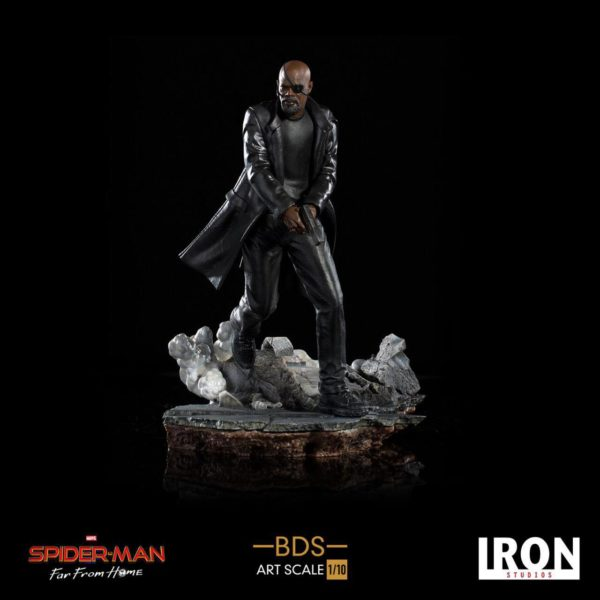 NICK FURY STATUETTE 1-10 SPIDER-MAN FAR FROM HOME BDS ART SCALE IRON STUDIOS 20 CM
