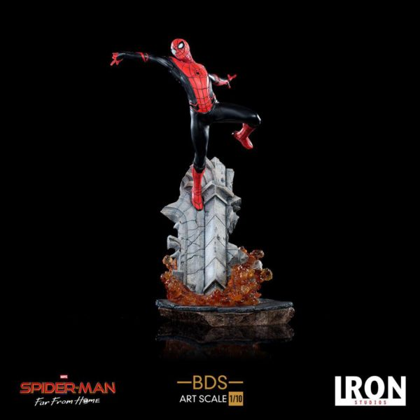 SPIDER-MAN FAR FROM HOME STATUETTE 1-10 BDS ART SCALE DELUXE IRON STUDIOS 30 CM 606529900069 kingdom-figurine.fr