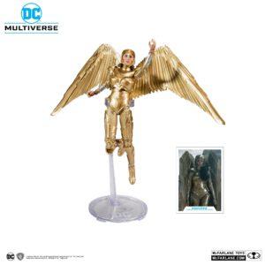 WONDER WOMAN 1984 GOLDEN ARMOR FIGURINE DC MULTIVERSE McFARLANE TOYS 18 CM (1) 787926151237 kingdom-figurine.fr