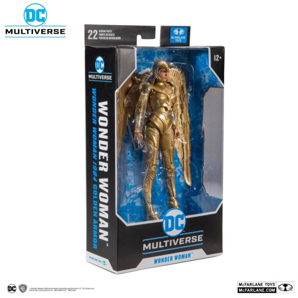 WONDER WOMAN 1984 GOLDEN ARMOR FIGURINE DC MULTIVERSE McFARLANE TOYS 18 CM (5) 787926151237 kingdom-figurine.fr