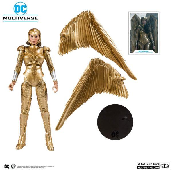 WONDER WOMAN 1984 GOLDEN ARMOR FIGURINE DC MULTIVERSE McFARLANE TOYS 18 CM 787926151237 kingdom-figurine.fr