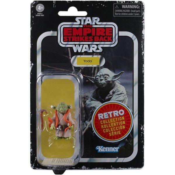 YODA FIGURINE STAR WARS EPISODE V RETRO COLLECTION WAVE 2 HASBRO 5 CM 5010993687091 kingdom-figurine.fr