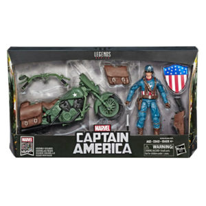 CAPTAIN AMERICA WITH MOTORCYCLE FIGURINE MARVEL LEGENDS 80TH HASBRO 15 CM 5010993603718 kingdom-figurine.fr