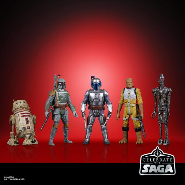 BOUNTY HUNTERS PACK 5 FIGURINES STAR WARS CELEBRATE THE SAGA HASBRO 10 CM (1) 5010993782413 kingdom-figurine.fr