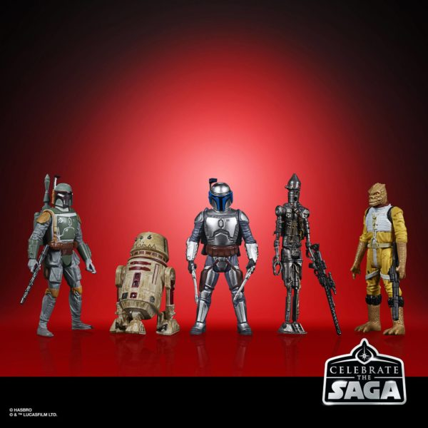 BOUNTY HUNTERS PACK 5 FIGURINES STAR WARS CELEBRATE THE SAGA HASBRO 10 CM (2) 5010993782413 kingdom-figurine.fr