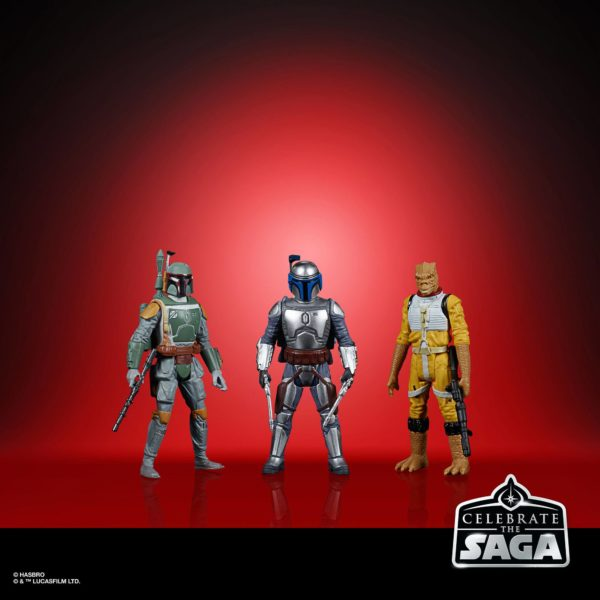 BOUNTY HUNTERS PACK 5 FIGURINES STAR WARS CELEBRATE THE SAGA HASBRO 10 CM (3) 5010993782413 kingdom-figurine.fr
