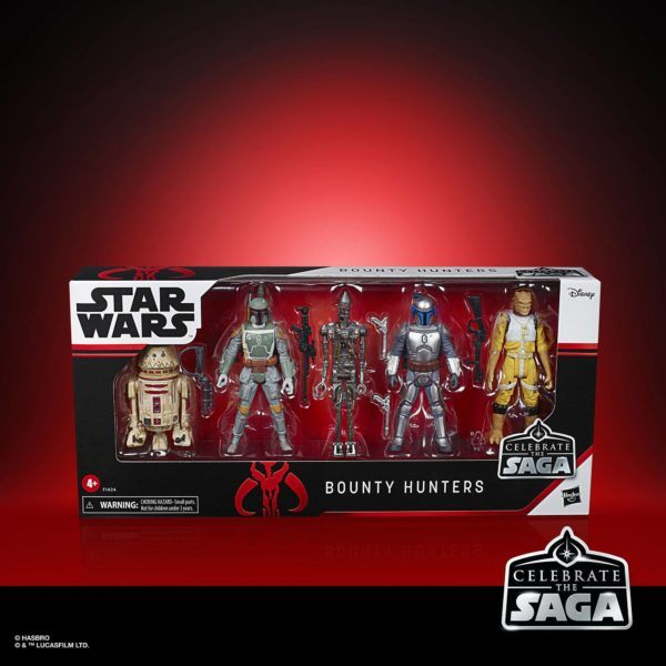 BOUNTY HUNTERS PACK 5 FIGURINES STAR WARS CELEBRATE THE SAGA HASBRO 10 CM 5010993782413 kingdom-figurine.fr