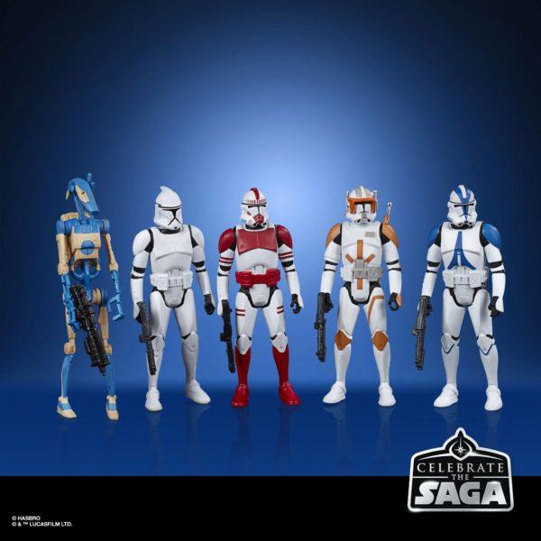 GALACTIC REPUBLIC PACK 5 FIGURINES STAR WARS CELEBRATE THE SAGA HASBRO 10 CM (1) 5010993782550 kingdom-figurine.fr