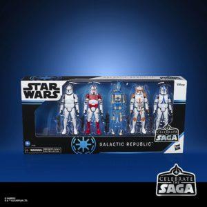 GALACTIC REPUBLIC PACK 5 FIGURINES STAR WARS CELEBRATE THE SAGA HASBRO 10 CM 5010993782550 kingdom-figurine.fr