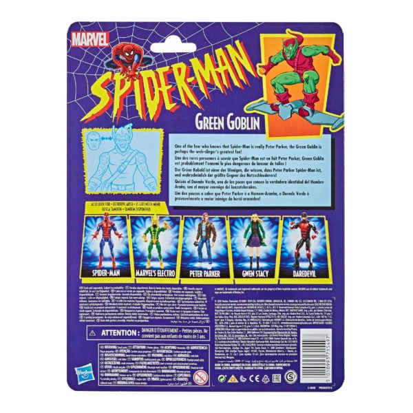 GREEN GOBLIN FIGURINE MARVEL SPIDER-MAN RETRO COLLECTION HASBRO 15 CM (2) 5010993715497 kingdom-figurine.fr
