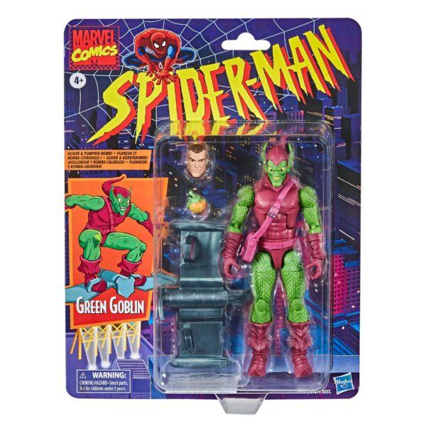 GREEN GOBLIN FIGURINE MARVEL SPIDER-MAN RETRO COLLECTION HASBRO 15 CM 5010993715497 kingdom-figurine.fr