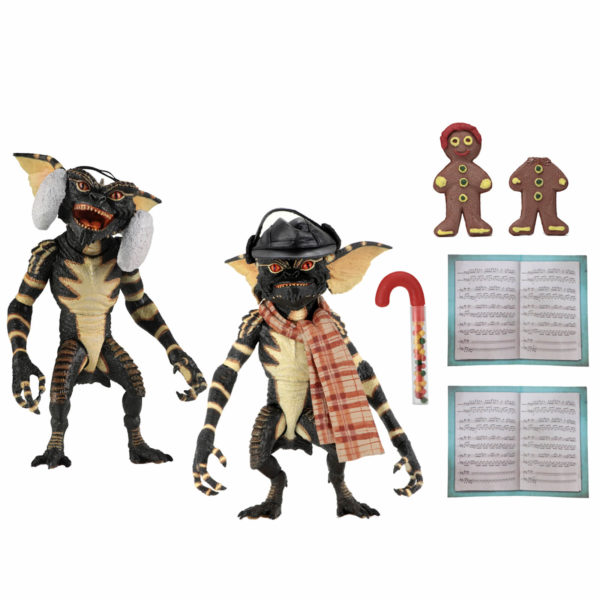 GREMLINS PACK 2 FIGURINES CHRISTMAS CAROL WINTER SCENE SET 2 NECA 15 CM 634482307489 kingdom-figurine.fr